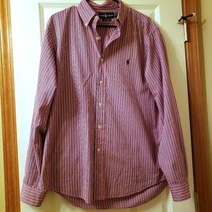 Ralph Lauren Mens buttoned down shirt red size L